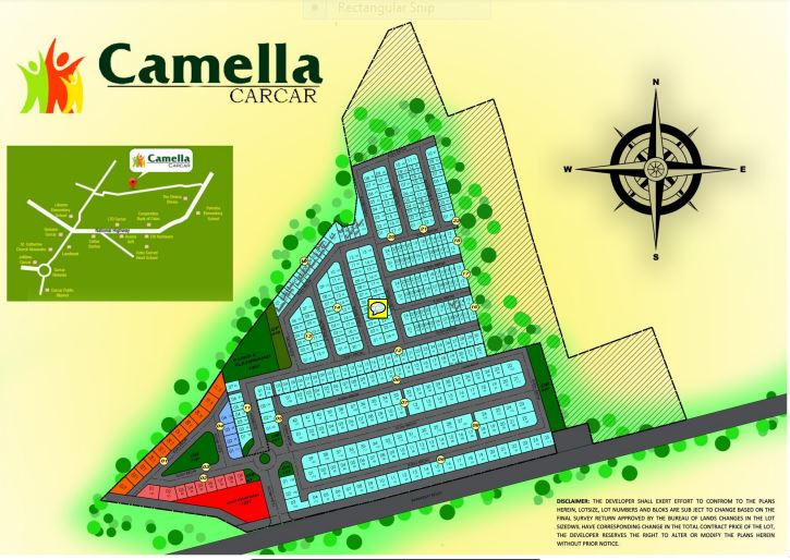 Camella Carcar vicinity map june