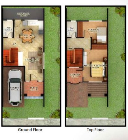 60 sqm 2 storey house design house and home design for Two storey residential house floor plan