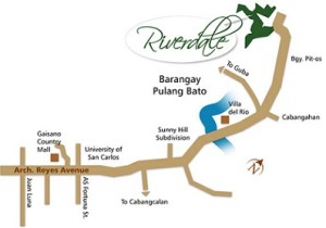Riverdale Talamban Location map
