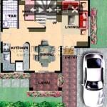 Saphire House Model Groud Floor Plan