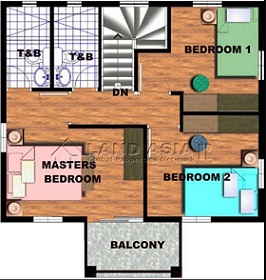 Saphire House Model Second Floor Plan