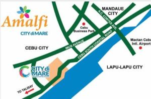 Amalfi City de Mari location