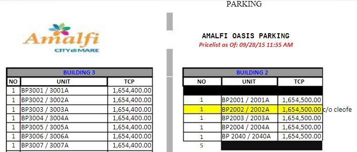 Amalfi parking 1
