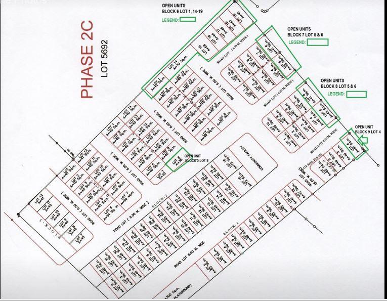 Azalea inventory map jan. 15, 2020