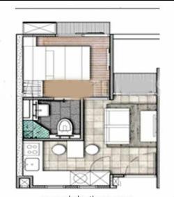 Lot 8 floor plan 1 bed
