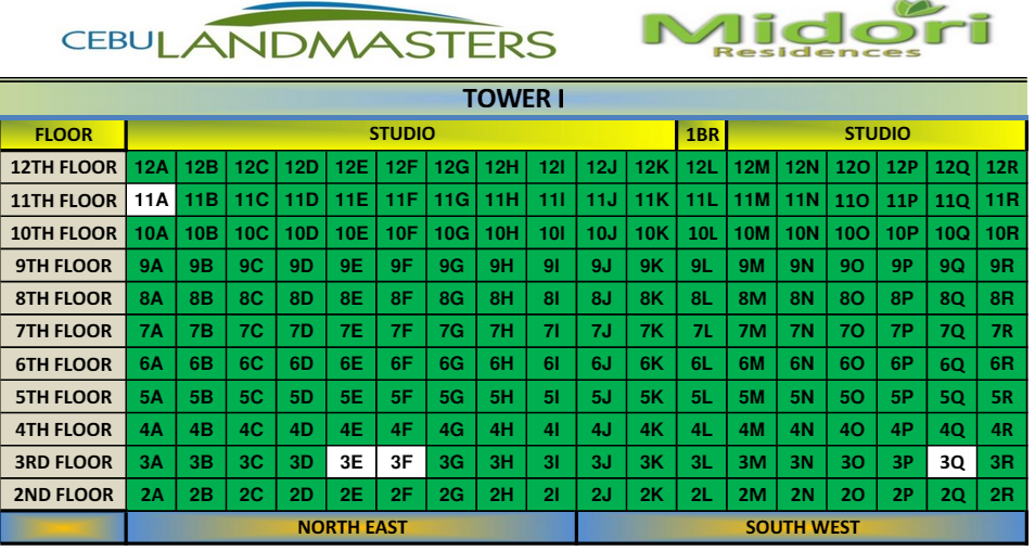 Midore Residences updated map 1
