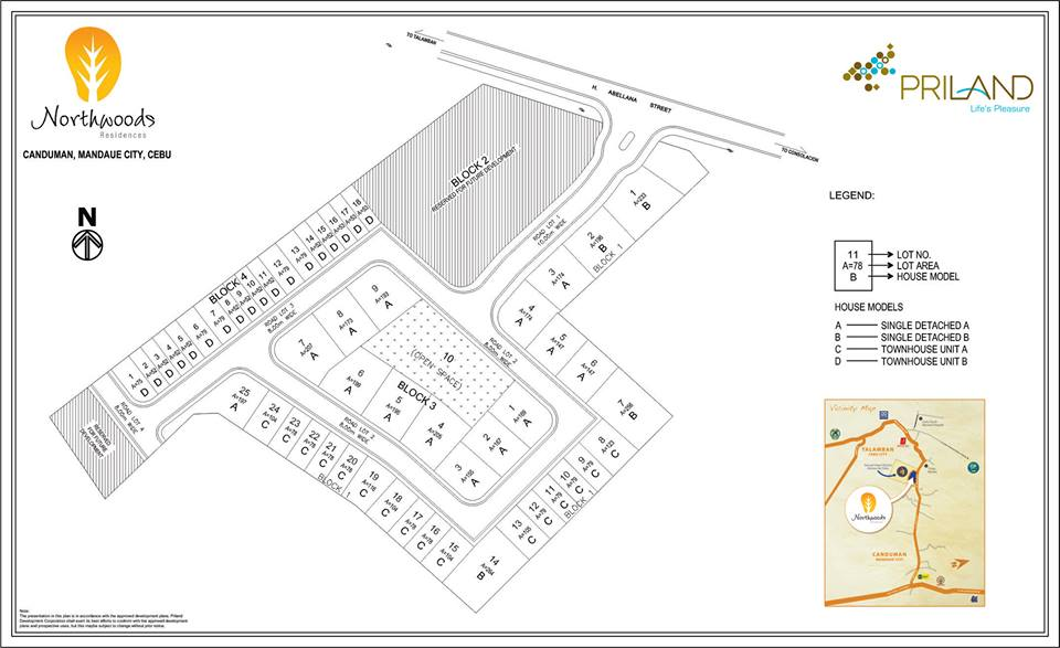 Northwoods residences subdivision map
