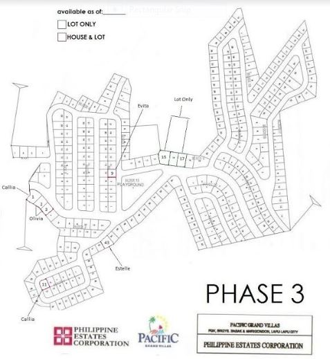 Pacific Grand Villas map jan phase 3