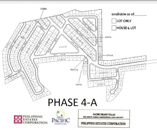 Pacific Grand Villas map jan phase 4-A