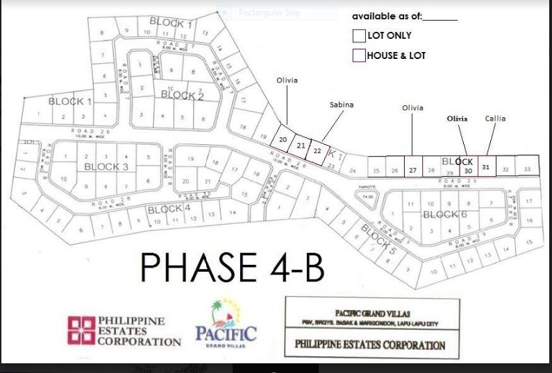 Pacific Grand Villas map jan phase 4-B