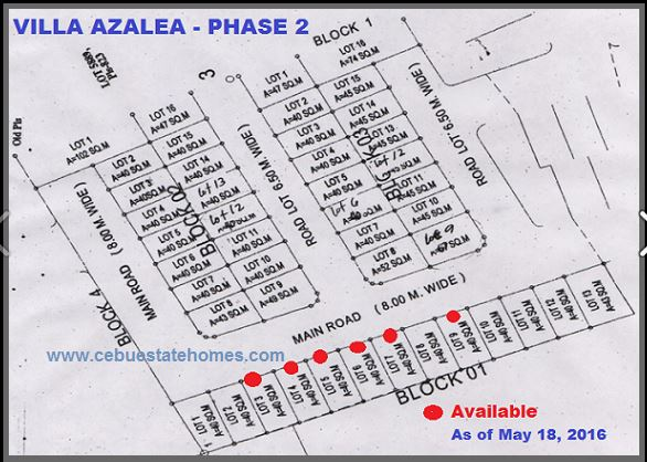 Villa Azalea phase 2 map aug.
