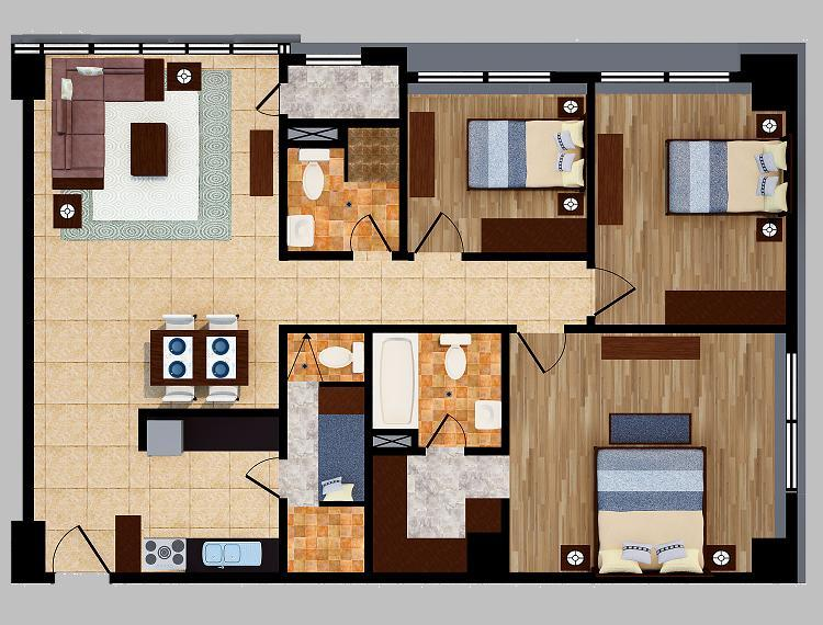 threebedroom unitf