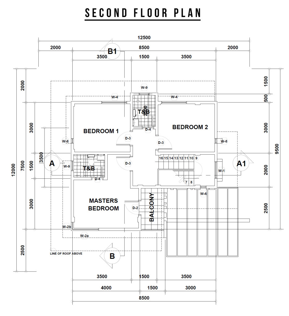 villa teresa s . d floor plan send