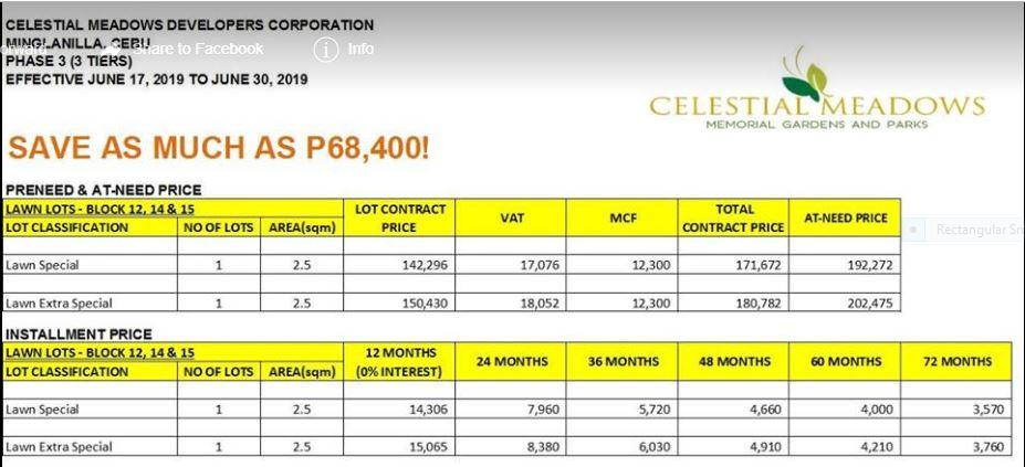 Celestial Meadow price 1 june 2019