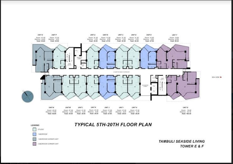 Tambuli typical floor plan