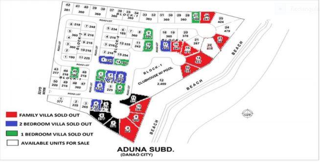 Aduna Beach map june 2018