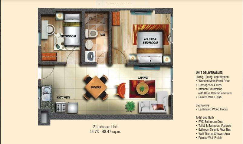 Soltana Floor Plan 2 Bedroom 2 Cebu Sweet Homes