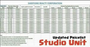 Saekyung price april 2018