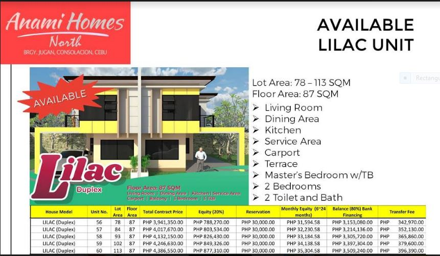 Anami Homes North Lilac Available Sept. 2019