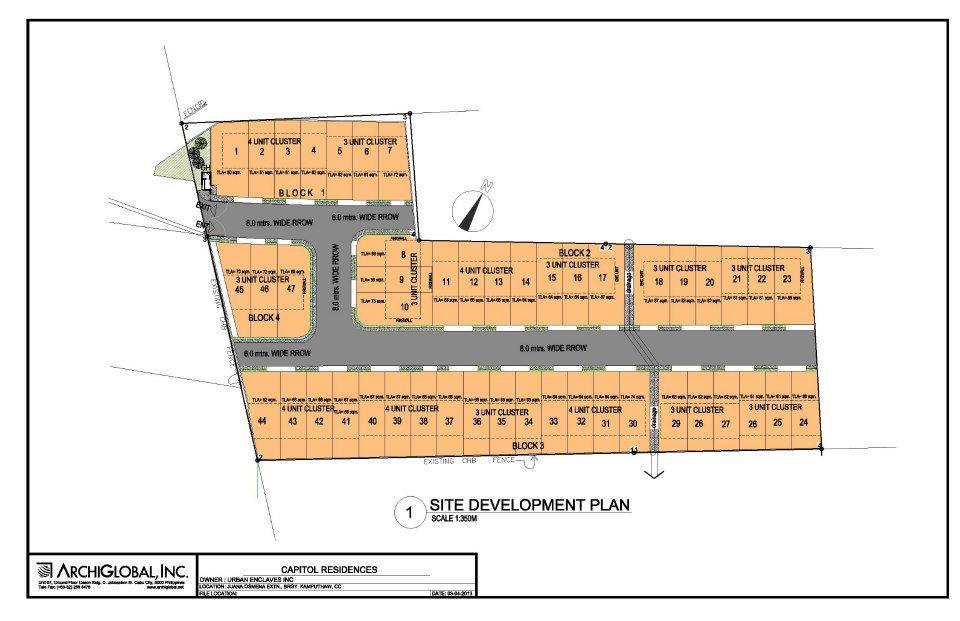Urban Enclave Capitol site plan