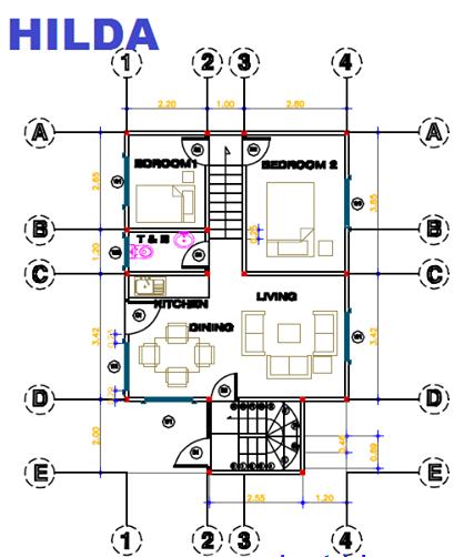 V. Purita Hilda floor plan
