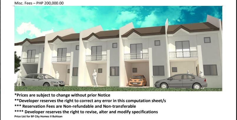 BF Homes Buhisan price 2 june 2018