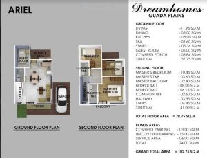 Guada Plains Ariel floor plan