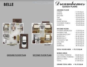 Guada Plains Belle floor plan.