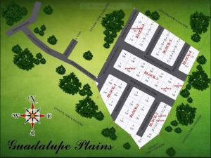 Guada Plains subdivision map