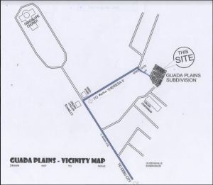 Guada Plains vicinity map