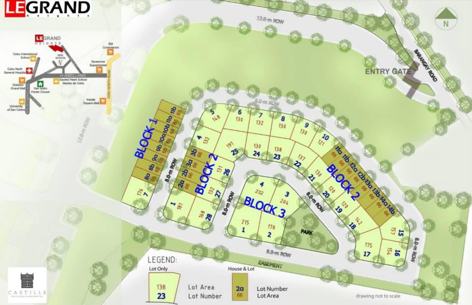 Legrand subdivision map