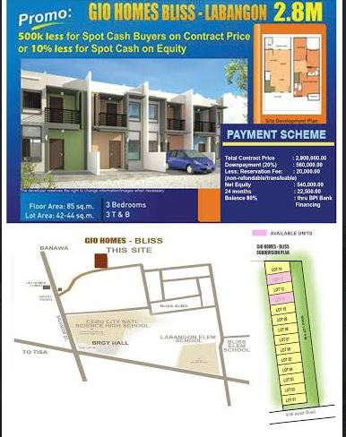 Gio Homes map
