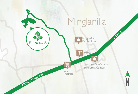 Fancesca Highlands Vicinity Map