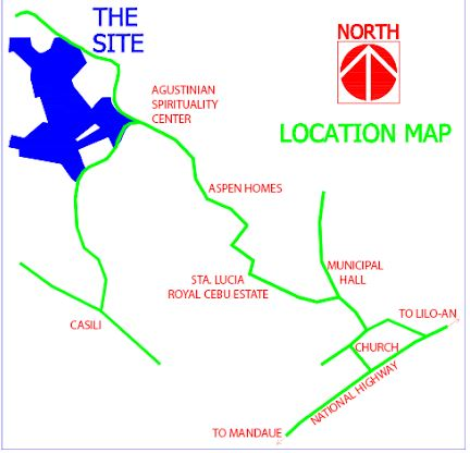 North Verdana location map