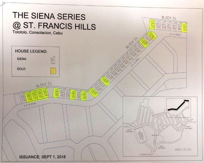 St. Francis Siena map
