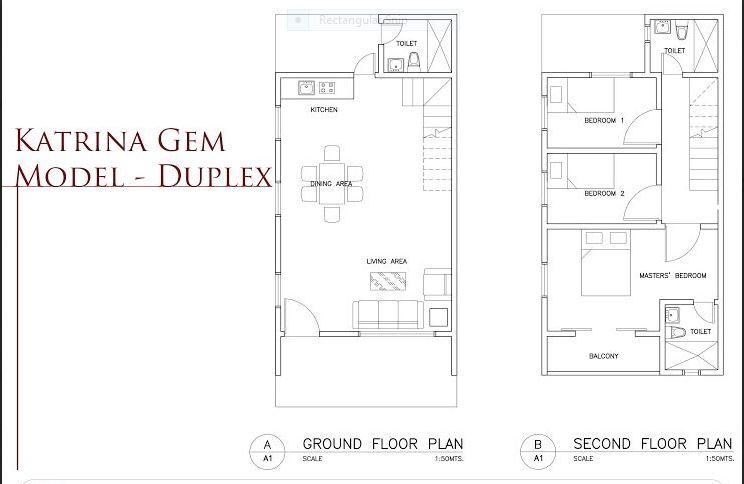 BF Bellaville Katrina Gem duplex floor plan