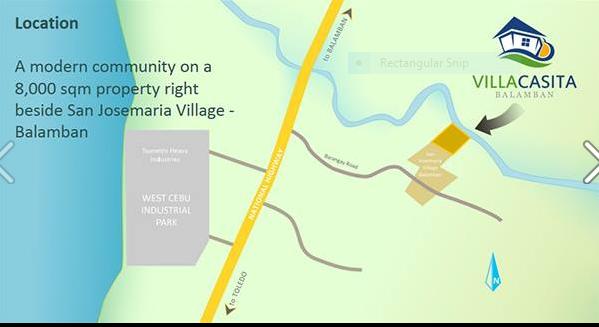 Villa Casita map