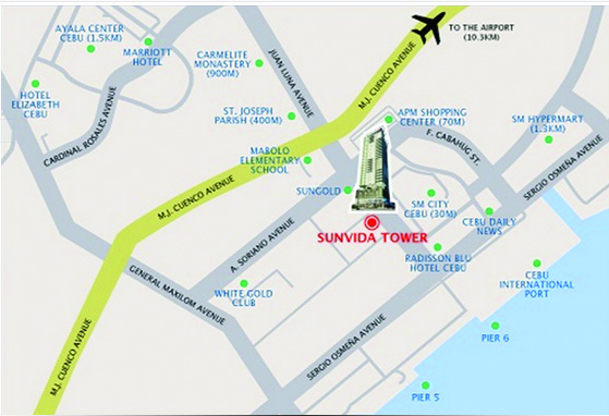 Sunvida location map