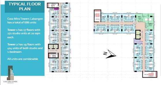 Casa Mira typical floor plan