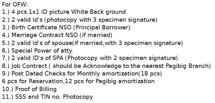 Malibo requirements 2