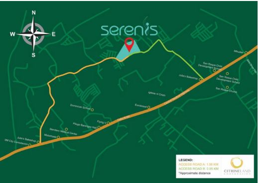 Serenis location map