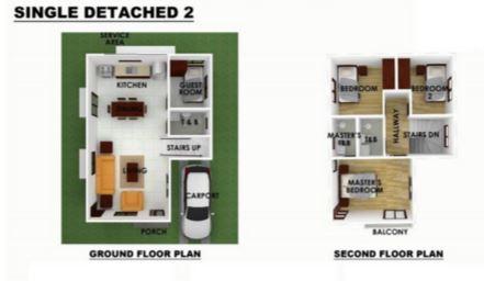Serenis single detached floor plan 2