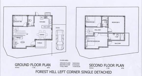 Forest Hills s. detached floor plan