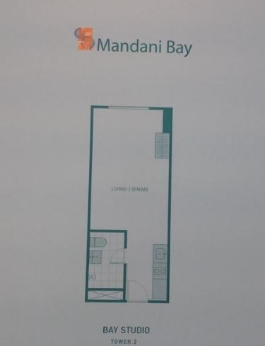 Mandani Bay studio flr layout tower 2