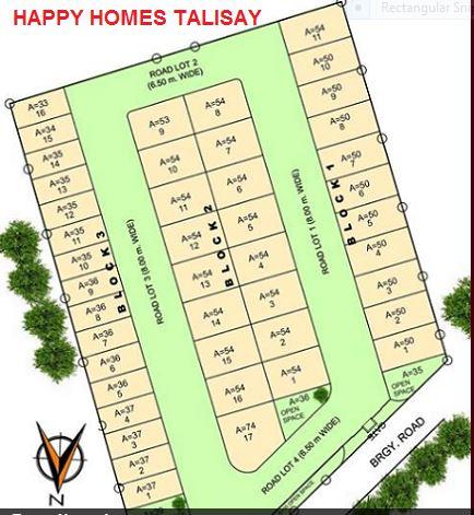 Happy Homes talisay map