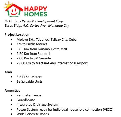 Happy homes talisay description