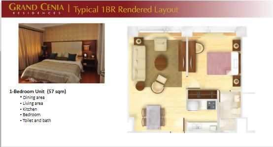 Grand Cenia 1 bedroom layout