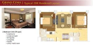 Grand Cenia 2 bedroom layout