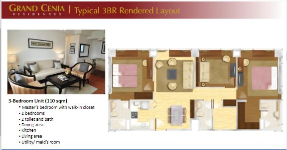 Grand Cenia 3 bedrooms layout