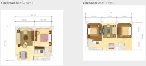 Grand Cenia unit plan 2 bedroom